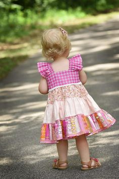 Baby Doll Twirl Dress PDF Sewing Pattern including sizes 6