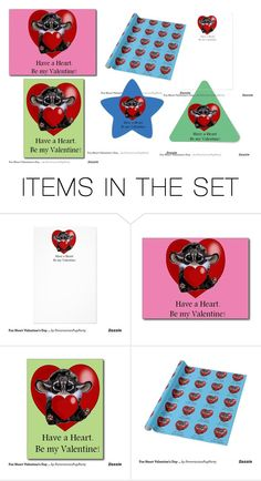 Foxy Inari Toy Valentine Paper Collection by sandy4899 on Polyvore featuring art