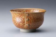 "Miraku Kamei XV, Tea bowl, ""gold flower"" (kinka) glaze, stoneware"