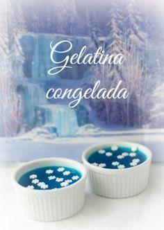 Gelatina congelada, una opción más, para tu fiesta estilo Frozen