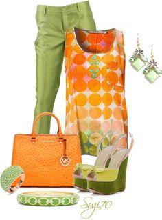 Diese Kombi macht Lust auf mehr...Quitschvergnügt in Tangerine/Mandarine (Farbpassnummer 32) und Apfelgrün (Farbpassnummer 27)