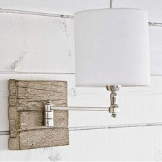 Regina Andrew Reclaimed Wood Swing Arm Pinup Sconce - traditional - wall sconces - by Candelabra Wood Sconce, Wall Sconce Lighting, House Lighting, Bedside Lighting, Lighting Showroom, Bedside Lamp, Bedroom Lighting, Theoule Sur Mer, Wood Bead Chandelier