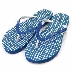 NEW White and Blue Tommy Hilfiger Women Summer Flip Flops Beach Slippers Sandals #TommyHilfiger #FlipFlops