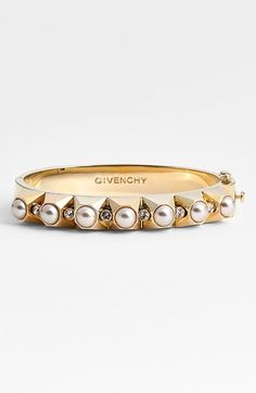 Givenchy Faux Pearl Stud Hinge Bangle (Nordstrom Exclusive) available at #Nordstrom