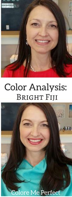 Beautiful Before and After Color Analysis Transformation! She is a Bright Fiji. Find your Best Colors with us at any Skin Perfect spa in Columbus Ohio or Naples Florida. Or have a Virtual Color Analysis! l Colore Me Perfect l Beauty l Draping l Results l Professional l Fashion l Makeup l Accessories l Color Palette l Easy l @ColoreMePerfectCosmetics