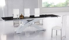 Furniture Inspiration White Italian Modern Dining Table With Chairs And A Bootle Of Liquor Handsome