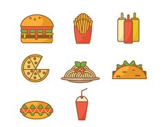 """Check out new work on my @Behance portfolio: """"Junk Food"""" http://be.net/gallery/50201163/Junk-Food"""