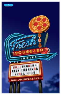Florida Film Festival 2011 Poster - Designed by Lure Design & Billy Davis.