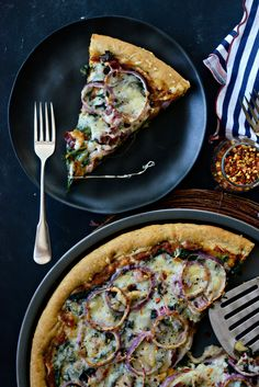 Toasted Garlic + Swiss Chard Pizza l SimplyScratch.com  (27)
