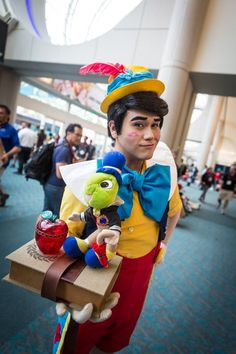 Pinocchio showing off his conscience Cosplay - #SDCC San Diego Comic Con 2014