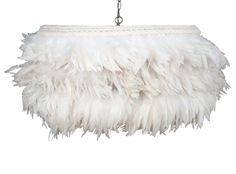 $2k feather pendant...one shallow drum shade. It's rich, unexpected and the proportions are to die for.... I could go on and on about this beautiful piece! Emma Feather Pendant, Jayson Home & Garden