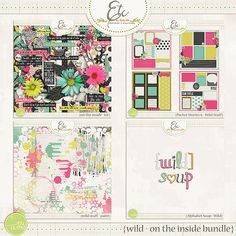 A boldy sweet inspired Digital Scrapbooking Collection for those moments that…