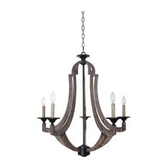 Not sure what kind of light to do but I like this one | 5 Light Winton Weathered Pine Chandelier