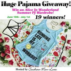Alice In Wonderland Summer PJ Giveaway ~ 19 WINNERS! (Ends 7/1)