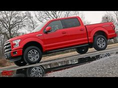 2015 Ford F-150 2.5-inch Leveling Kit by Rough Country - YouTube