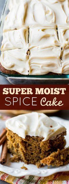 How to make super moist spice cake on sallysbakingaddiction.com
