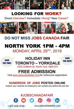 13 Best North York Job Fair images in 2019 | Free admission