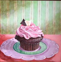 Georgina Johnstone | ACRYLIC | Chocolate Cupcake