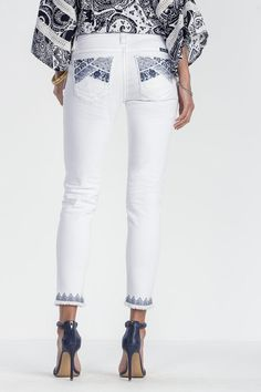 """Check out """"Swept Away Mid-Rise Ankle Skinny Jeans"""" from Miss Me"""