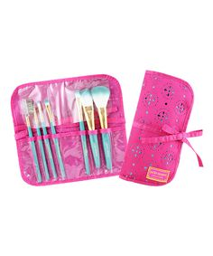 Look at this Jacki Design Hot Pink Cosmopolitan Seven-Piece Brush Set on #zulily today!