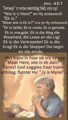 Jy is myne Bible Quotes, Bible Verses, Prayer Quotes, I Love You God, Powerful Scriptures, Afrikaanse Quotes, Bible Prayers, Religious Quotes, Quotes About God