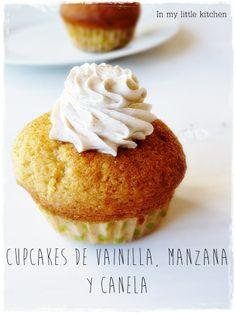 Cupcakes de vainilla, manzana y canela