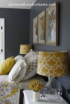 Bedroom Ideas Yellow And Grey decorative pillows cover - mustard yellow & gray birds - 18 x 18