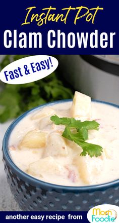 Make New England Clam Chowder in the Instant Pot. It is quick & easy! Includes electric pressure cooker versions for both clear and red chowder also.