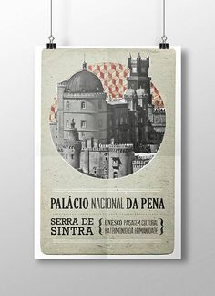 Original PORTUGUESE PALÁCIO DA PENA SINTRA  Wall by NoProjectos
