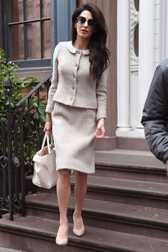 Amal Clooney Wears a Chic Unexpected Shoe with Her Classy Work Ensemble  - HarpersBAZAAR.com
