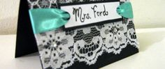 another AMAZING name tag! I am obsessed with the lace and ribbon! This would be gorgeous with red ribbon for Chi O!