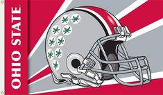 NCAA Ohio State Buckeyes Foot Flag with Grommets - Helmet Design Officially licensed NCAA Collegiate product. foot Reinforced headband with 2 grommets for flying Heavy duty polyester Screen printed design Ohio State Buckeyes, Buckeyes Football, Ohio State University, Football Team, Football Helmets, College Football, Football Season, Vintage Bunting, Helmet Design