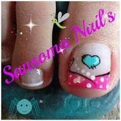 :) Pedicure Nail Art, Pedicure Designs, Toe Nail Designs, Nail Polish Designs, Toe Nail Color, Toe Nail Art, Nail Colors, Painted Toe Nails, Acrylic Nails