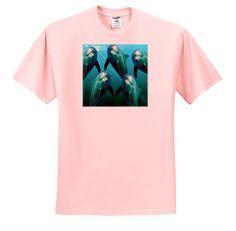 Curious Dolphins – Toddler Light-Pink-T-Shirt (4T)