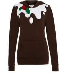 Brown Christmas Pudding Hoodie. I'm not really the sort of person who wears silly Xmas sweaters but I do think this one is quite funny.
