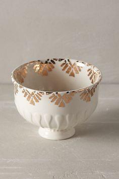 gilded thistle nut bowl / anthropologie