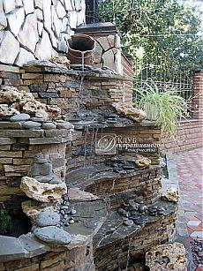 Искусственный водопад для сада: садовый водопад с кувшином