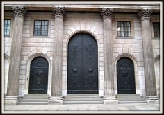 (Entrance to the) Bank of England (a Grade I Listed Building), Threadneedle Street, City of London