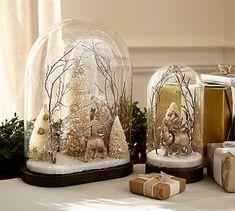 Scenic Deer Cloche #potterybarn