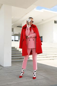 Suit Fashion, Look Fashion, Winter Fashion, Fashion Outfits, Womens Fashion, Colourful Outfits, Colorful Fashion, Mode Cool, Estilo Preppy