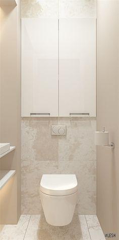 Светлый современный санузел | Студия  LESH (санузел, маленький санузел, туалет, современный дизайн, керамогранит)
