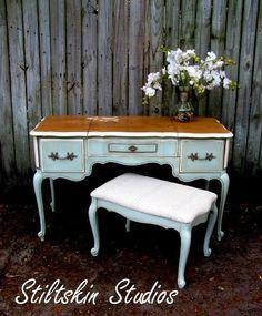Provincial Paris Vanity Desk with Bench - Etsy