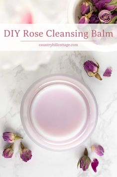 This natural DIY rose cleansing balm is a lovely way to pamper yourself at the end of the day and melts away even the most long-wearing makeup. Diy Rose, Rose Essential Oil, Skin Care Remedies, Diy Beauty, Beauty Tips, Homemade Beauty, Beauty Products, Natural Beauty Recipes, Homemade Hair