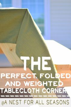 The perfect weighted, folded tablecloth for picnics!