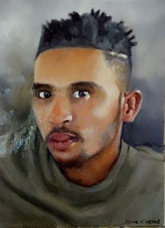 Portrait done in oils and brush on board - 300 x 400mm