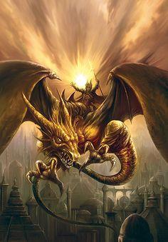 Dragonflyer  by Jan Patrik Krasny Dragon Fantasy Myth Mythical Mystical Legend Dragons Wings Sword Sorcery Art Magic Drache dragon drago dragon Дракон  drak dragão