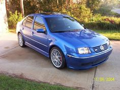 Sky blue VW Jetta GLI with turbo. This was my husbands