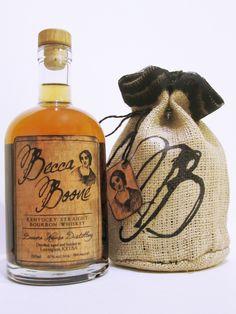 Becca Boone - Straight Bourbon Whiskey | #bottledesign #packaging #whiskey