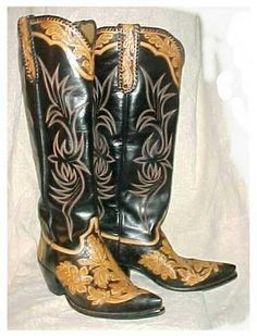 Texboots custom hand tooled cowboy boots from Rocketbusters in El Paso, Texas