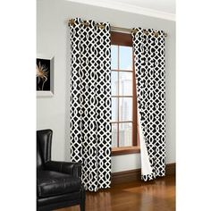 jcpenney black and white curtains - Google Search